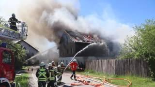 Video: Vollbrand eines Wohnhauses in Kirchdorf am Inn