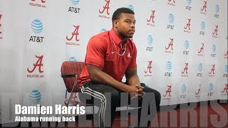 Alabama RB Damien Harris on Vandy performance, Ole Miss game