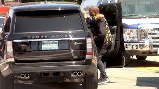 Kanye West Consoles Kris Jenner After She Crashes Her Rolls Royce