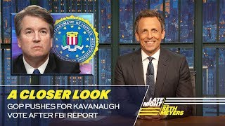 GOP Pushes for Kavanaugh Vote After FBI Report: A Closer Look