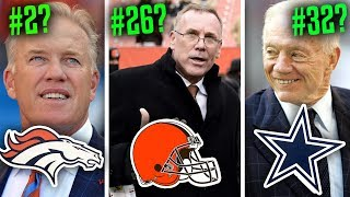 Ranking all 32 NFL GMs of 2019 from WORST to FIRST