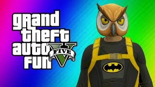 GTA 5 Online Funny Moments - Halloween Preparation, Batman, Dark Knight Rises Parody Skits!