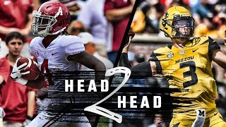 Head to Head: Alabama vs. Missouri