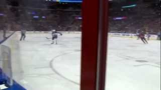 Scottie Upshall hammers Zach Redmond and fights James Wright {Dual-Feed}