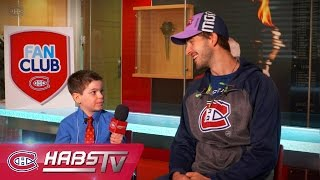 Fan Club Journalist for a day with Phillip Danault