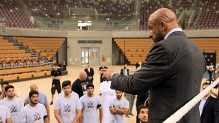 Triple H motivates aspiring Superstars at Saudi Arabia