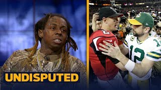 Lil Wayne predicts a win for his Green Bay Packers over the Atlanta Falcons | UNDISPUTED