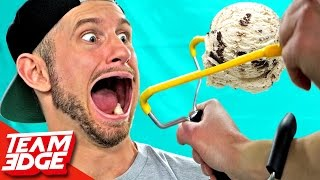 Ice Cream Slingshot To The FACE!!