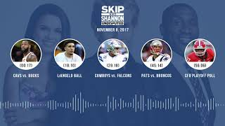 UNDISPUTED Audio Podcast (11.08.17) with Skip Bayless, Shannon Sharpe, Joy Taylor | UNDISPUTED
