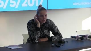 Kristýna Plíšková po postupu do semifinále J&T Banka Prague Open 2017