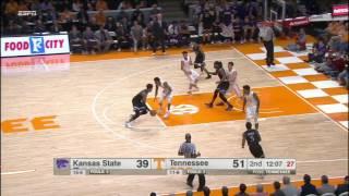Tennessee vs Kansas State Basketball Highlights 1-28-17