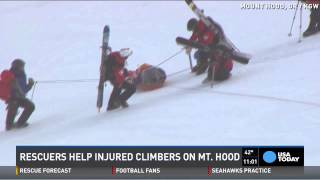Watch dramatic rescue of injured climbers on Mt. Hood