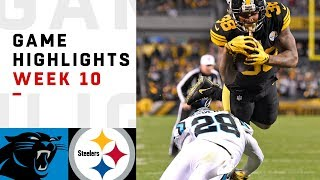 Panthers vs. Steelers Week 10 Highlights | NFL 2018