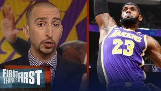 Nick and Cris react to LeBron, Lakers 114-110 win over the T-Wolves | NBA | FIRST THINGS FIRST