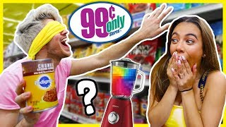 BLINDFOLDED 99 CENT STORE SMOOTHIE CHALLENGE! W/Adelaine Morin