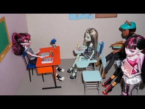 Видео как сделать парту для кукол