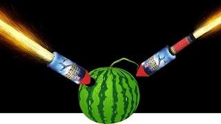 Experiment - Silvester Raketen VS Wassermelone 🍎