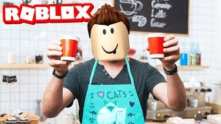 ROBLOX WORK AT A COFFEE SHOP!