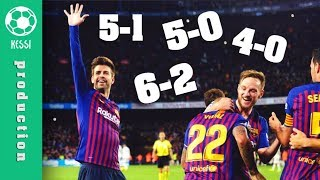 Barcelona DESTROY Real Madrid ● All Goals (5-0 5-1 6-2 4-0 3-0) - El Clasico