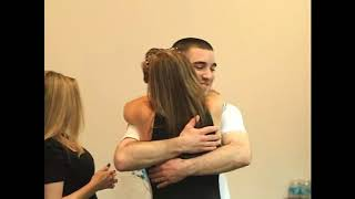 Woman Screams When Soldier Twin Brother Surprises Her After Coming Home from Afghanistan