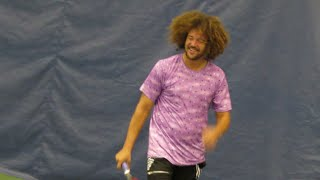 Redfoo playing tennis (New Haven)