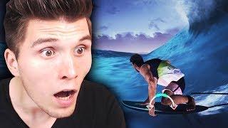 Ich reite eine MONSTERWELLE ✪ Surf SIMULATOR