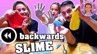 RÜCKWÄRTS SCHLEIM CHALLENGE - backwards slime mit Bilou Schaum | Mileys Welt