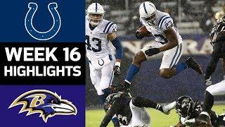Colts vs. Ravens   NFL Week 16 Game Highlights
