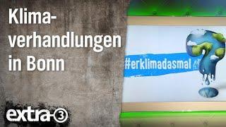 Christian Ehring: Klimaverhandlungen in Bonn   extra 3   NDR
