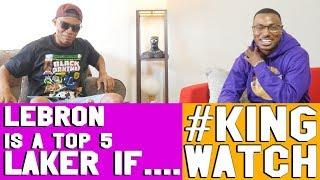 LEBRON IS A TOP 5 LAKER EVER IF  ? | Hoops N Brews