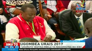 President Uhuru Kenyatta, DP William Ruto  cleared by IEBC to run for the Presidency #Decision2017