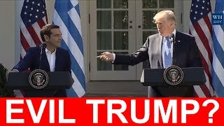 """Tsipras Called President Trump EVIL """"I Hope We Will Not Face This Evil Donald Trump Experience"""""""