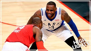 Kobe Bryant vs. LeBron James LAST ASG Duel (2016.02.15) - Mamba for 10 Pts, 7 Ast; King for 13 Pts