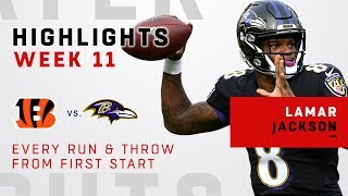 Every Run & Throw from Lamar Jackson