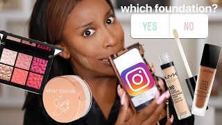 INSTAGRAM Picks My Makeup Routine! Oh LAWD LOL | Jackie Aina