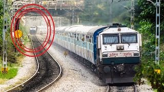 Pure Aggression VS Silent Crawl - Train Chase : Indian Railways