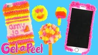 Gel-A-Peel 3D Design Station Craft Kit 4 Gel Pens Color Jewelry (Charms, Bracelets, Earrings)