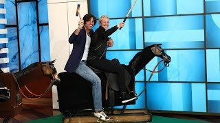 Ellen Faces Off Against Polo Star Nacho Figueras