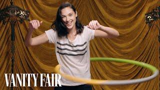 Gal Gadot Shows Off Her Hula Hooping Skills   Secret Talent Theatre   Vanity Fair