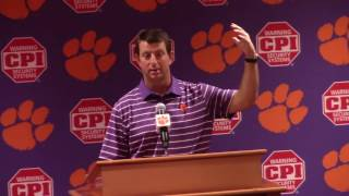 TigerNet.com - Dabo Swinney pre spring 2017 part one
