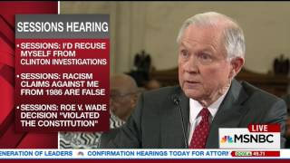 Sessions: Waterboarding is torture, the military does not do it