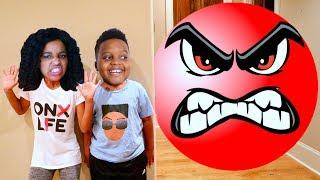 Shiloh and Shasha vs GIANT RED BALL!  - Onyx Kids