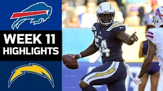 Bills vs. Chargers   NFL Week 11 Game Highlights