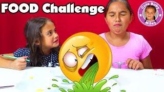 KIDS FOOD CHALLENGE + LUSTIGE OUTTAKES    Miley macht ohne Eltern eine Challenge    CutebabyMiley