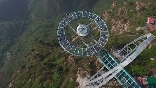 This glass walkway in China is crazy