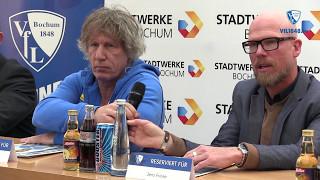 Die Pressekonferenz vor der Partie VfL Bochum 1848 - DSC Arminia Bielefeld