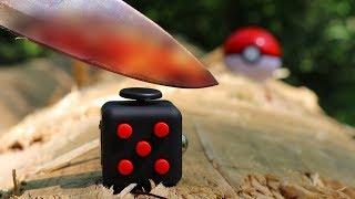 Experiment - Fidget Cube VS Glühendes Metall Messer