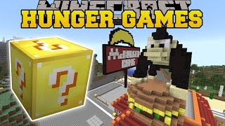 Minecraft: MCBURGER KONG HUNGER GAMES - Lucky Block Mod - Modded Mini-Game