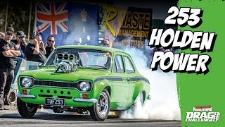 Blown 253-powered Ford Escort at the drags
