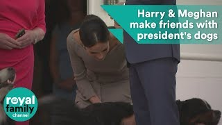 Prince Harry and Meghan, Duchess of Sussex make friends with Irish president